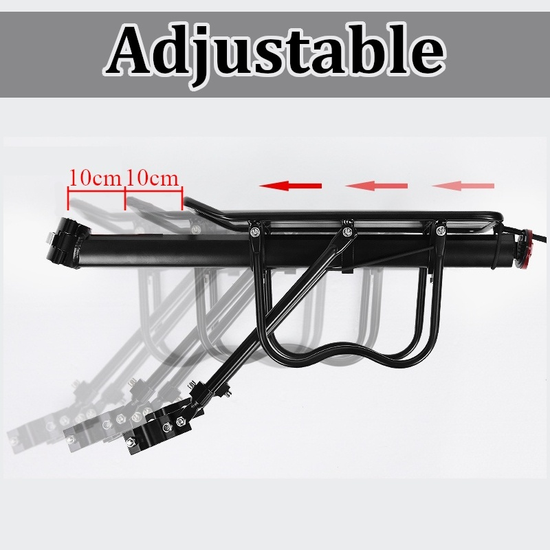 Universal Aluminum Alloy Bicycle Luggage Carrier Cargo Rear Rack Back Shelf Cycling Seatpost Bag Holder Stand Quick Mount Release