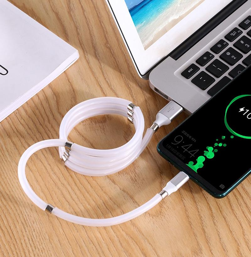【Hot Sale- 50% OFF】USB Magnetic Suction Data Line