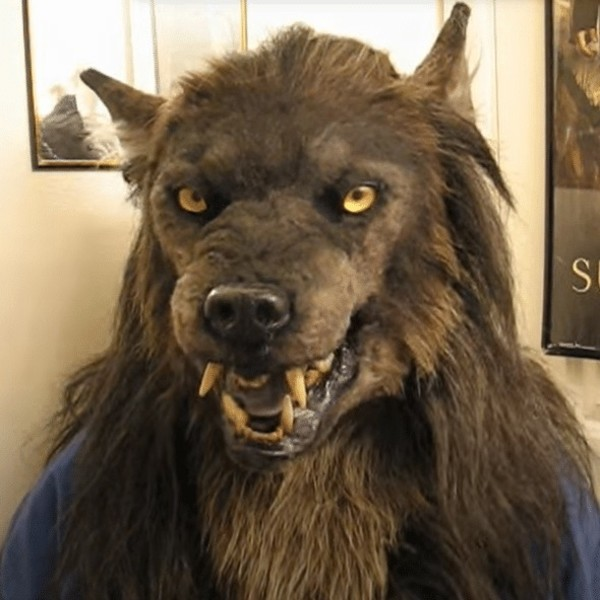 Werewolf Mask Glowing Eyes Movable Ears and Jaws-Free shipping
