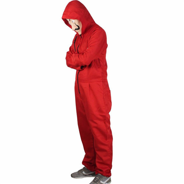 Unisex Money Heist Halloween Costume(Mask included) in Stock for Sale