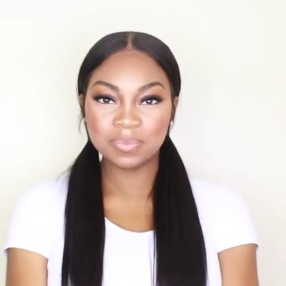 New Natural nape area straight Wig