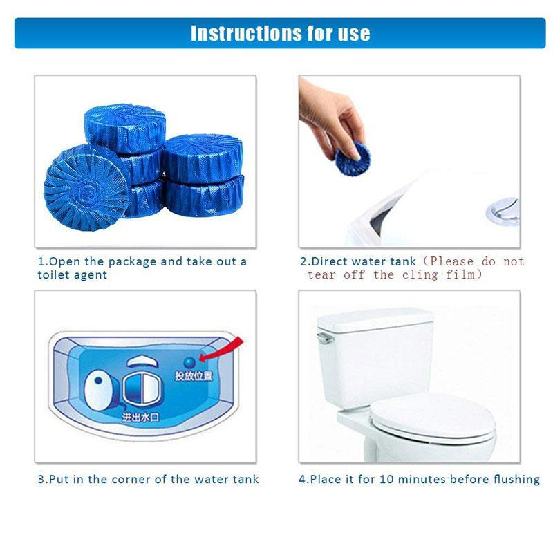 Blue Bubble Automatic Continuous Toilet Cleaner Antibacterial Deodorizer
