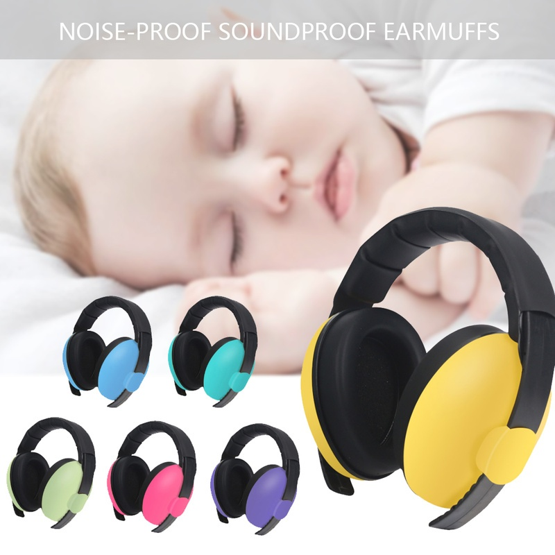 Adjustable Baby Kids Noise Reduction Earmuffs Hearing Protector Infant Sleeping Headphone Noise Blocking Ear Cover
