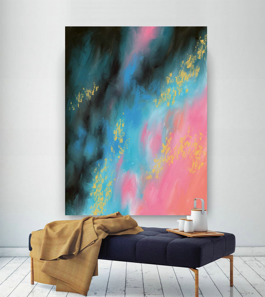 Extra Large Wall Art Palette Knife Artwork Original Painting,Painting on Canvas Modern Wall Decor Contemporary Art, Abstract Painting Pic027