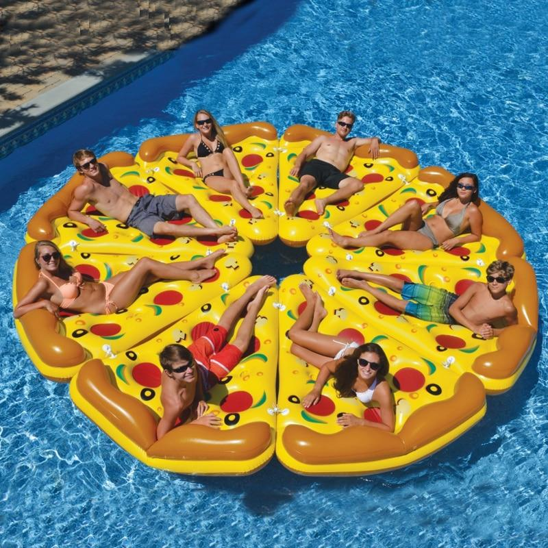 Giant 180cm Inflatable Pizza Slice Pool Floats Swimming Ring