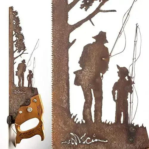 🤓FATHER'S DAY UNIQUE GIFT🎁Handsaw Metal Art - Rustic Wall Decor