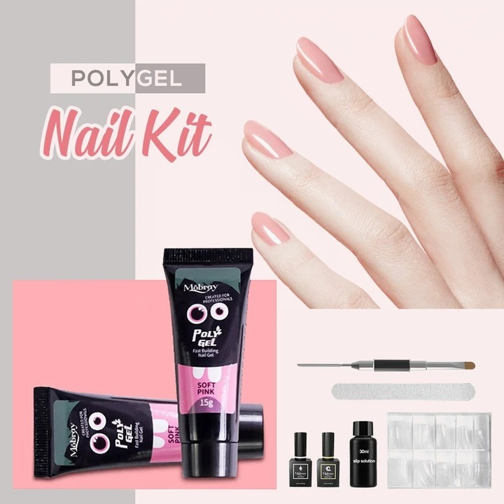 【Limited Quantity 49% OFF】😍PolyGel Nail Kit