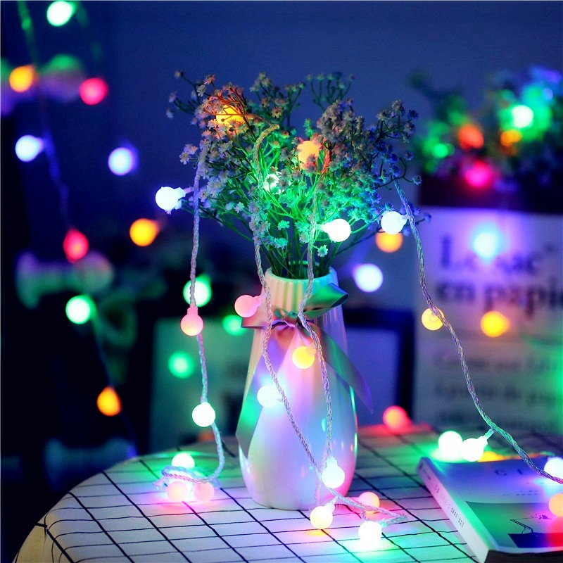 NEW Led Ball Fairy String lights1m 2m 3m 4m 5m Battery Operated Wedding Christmas Outdoor Garland waterproof Decoration lamps