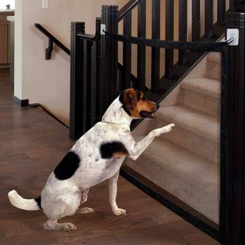 Kids &Pets Safety Door Guard, Magic Gate for Dogs Mesh Pet Safety Gate
