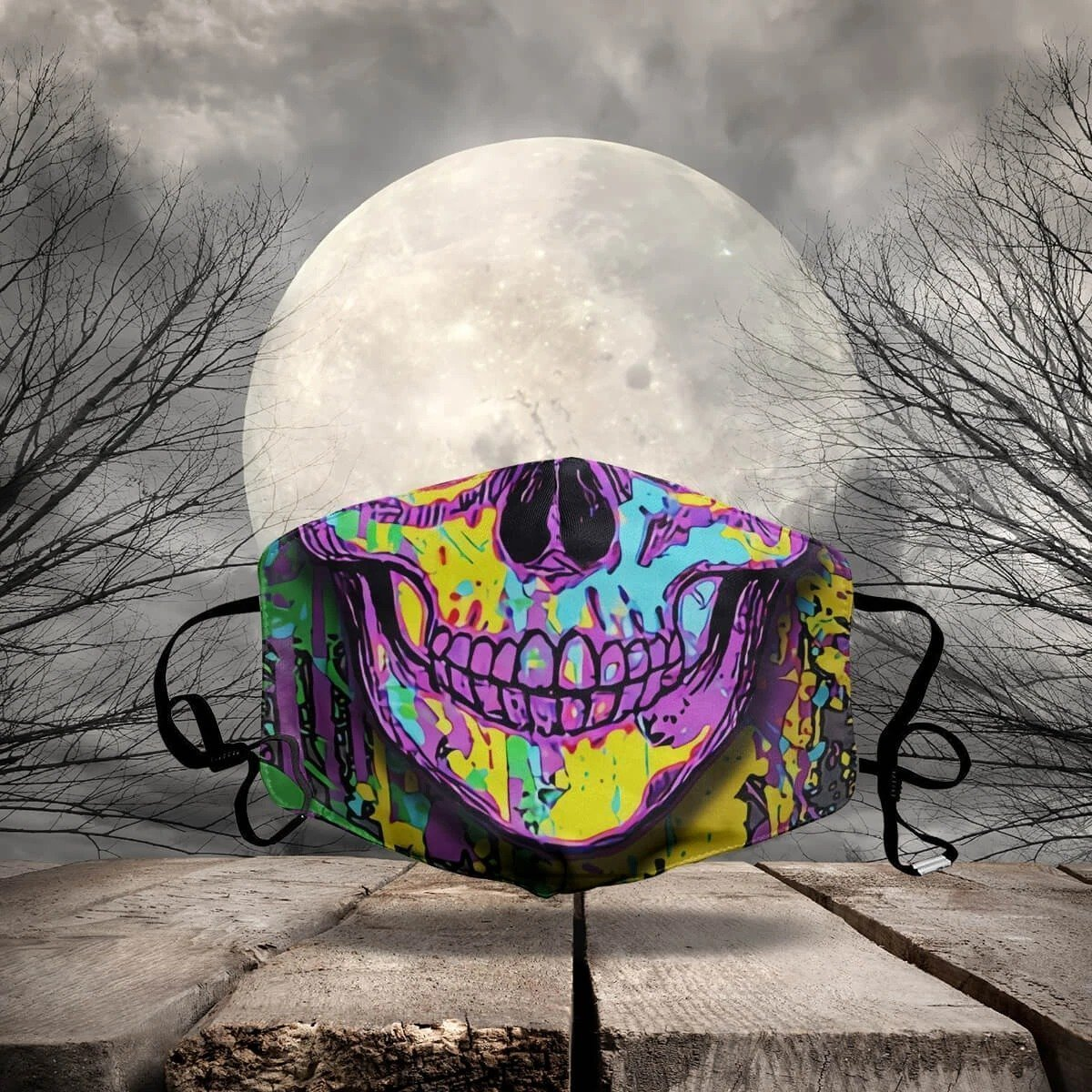 HALLOWEEN FABRIC FACE COVER AZS0005