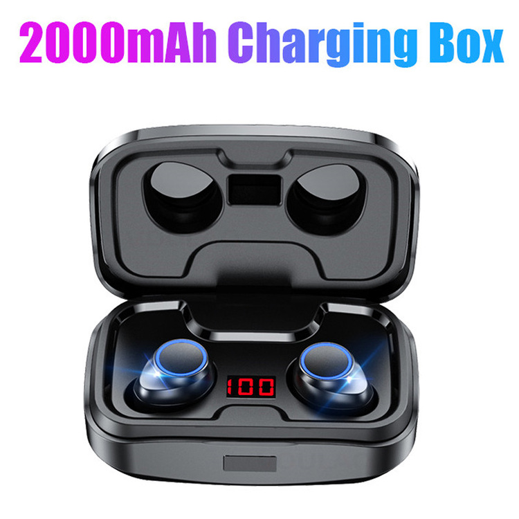 PerPear™ True Wireless Earbuds Mic in-Ear Stereo Earphones with 2000mAh Charging Case Phone Holder
