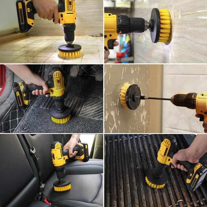 The Automatic Scrubber Drill Brush Set