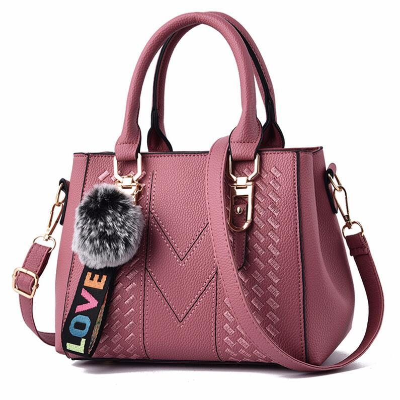 Embroidered Crossbody Women's Leather Tote Bag