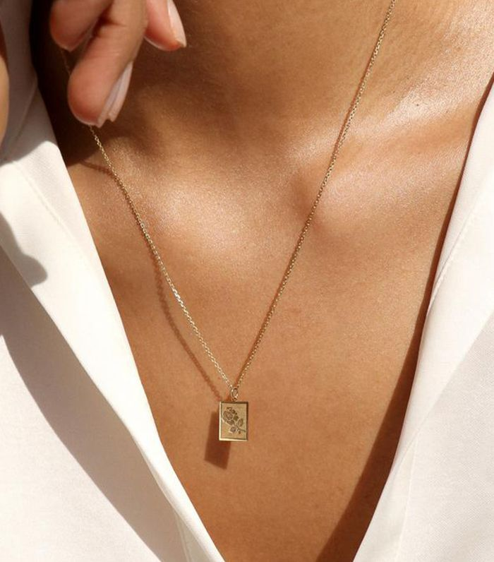 Fashion Necklace Dainty Necklace Lightning Necklace Women'S Stainless Steel Band Rings 14K Gold Choker Necklace Necklaces For Women