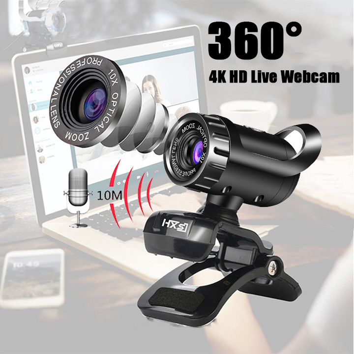 (Hot Sale 50% OFF)360° HD 1080P  Live Webcam
