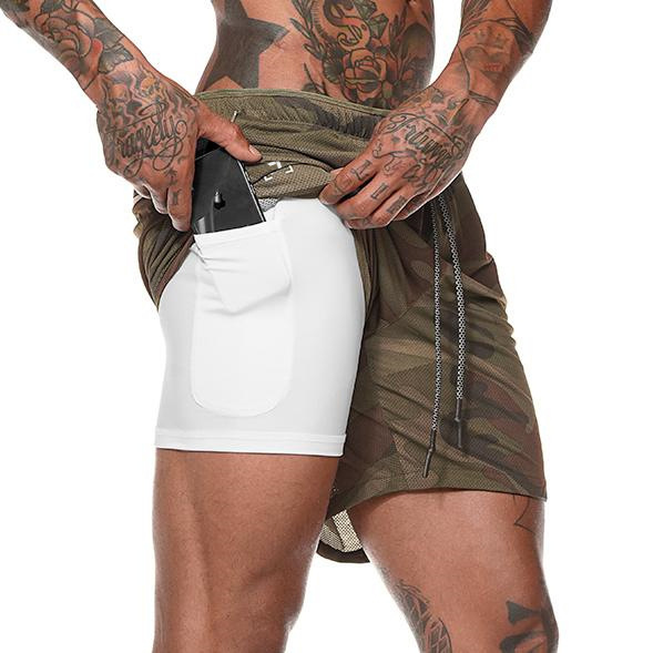 Men's 2 in 1 Ultra Workout Training Shorts-Last Day Promotion 50% Off