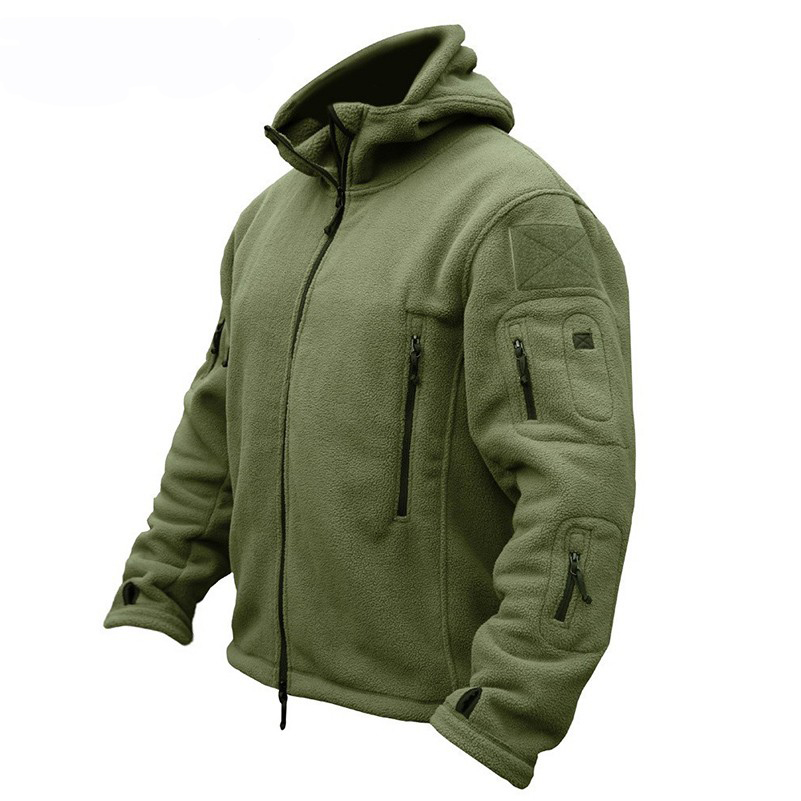 TACTICAL Men Outdoor Fleece Tactical Hooded Jacket Hiking Camping Winter Thermal Breathable US Army Military Outwears