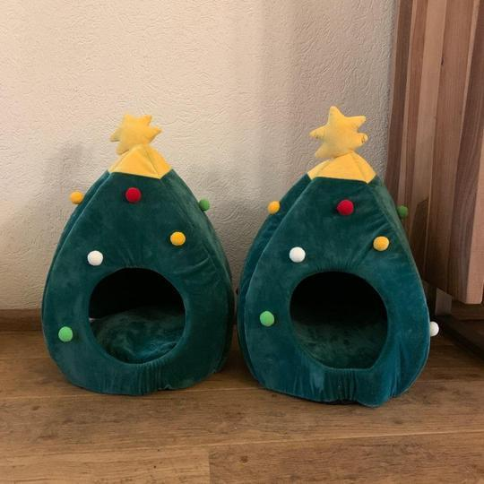 Christmas Limited Time Offer- Christmas Cat Cave Creative Tree Shape Cave Bed