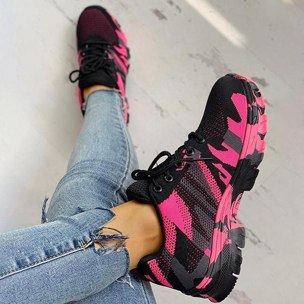 Faddishshoes Platform Breathable Lace-Up Climbing Sneakers