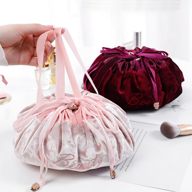 (60% OFF Today)Portable Quick Travel velvet Cosmetic Bag