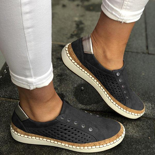 Lemmikshoes Women Casual Summer Slip On Hollow-Out Sneakers