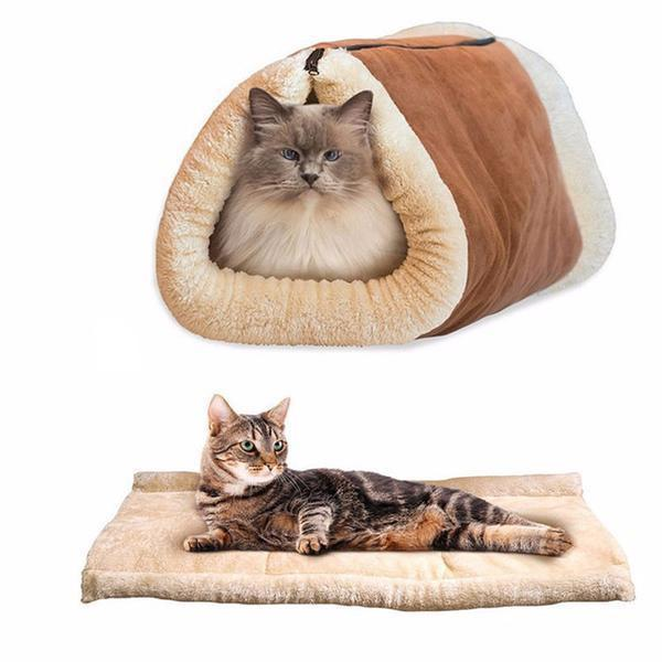 Amazing Kitty Cave: 2-in-1 Cat Bed & Tunnel
