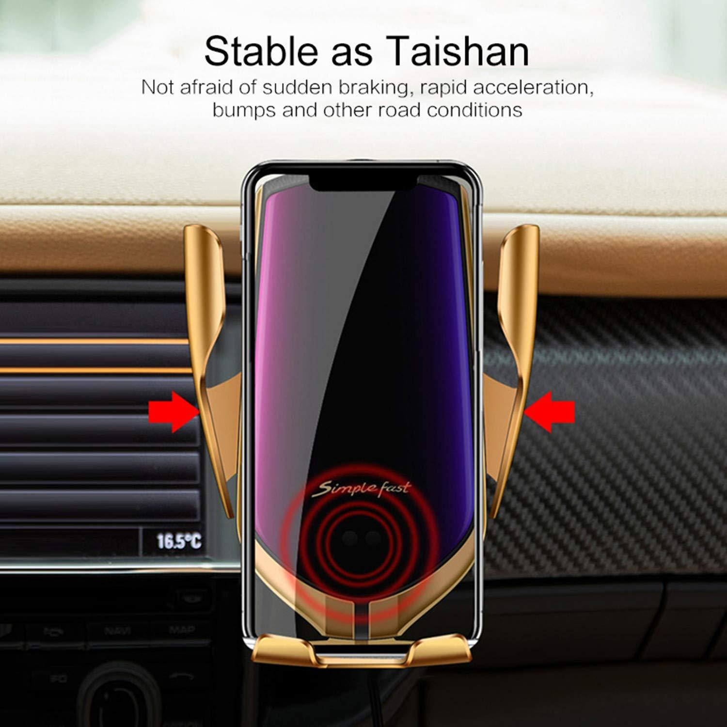 Wireless Automatic Sensor Car Phone Holder and Charger - Buy 2 Free Shipping
