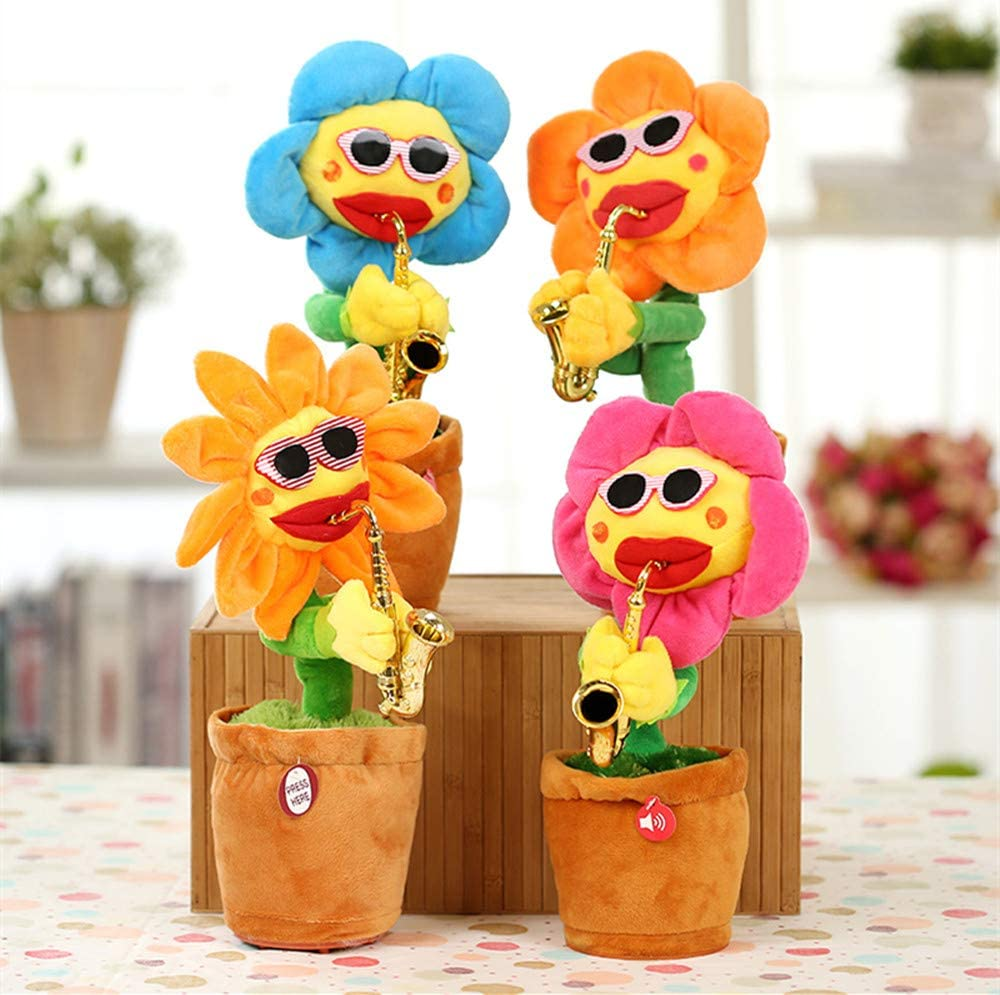 【BUY 2 GET 10% OFF】Enchanting Dancing,Playing Saxophone Flowers Sunflower
