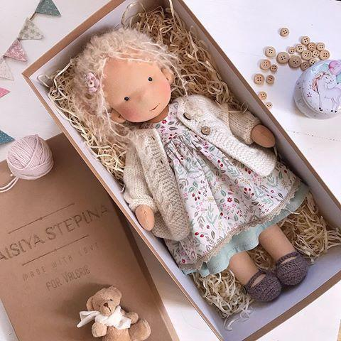 Liberty Dress For Waldorf Doll - Doll Clothing #8