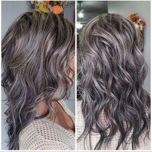 Gray Wigs Lace Frontal Wigs Curly Hair Extensions White GirlShort Gray Hair Wigs