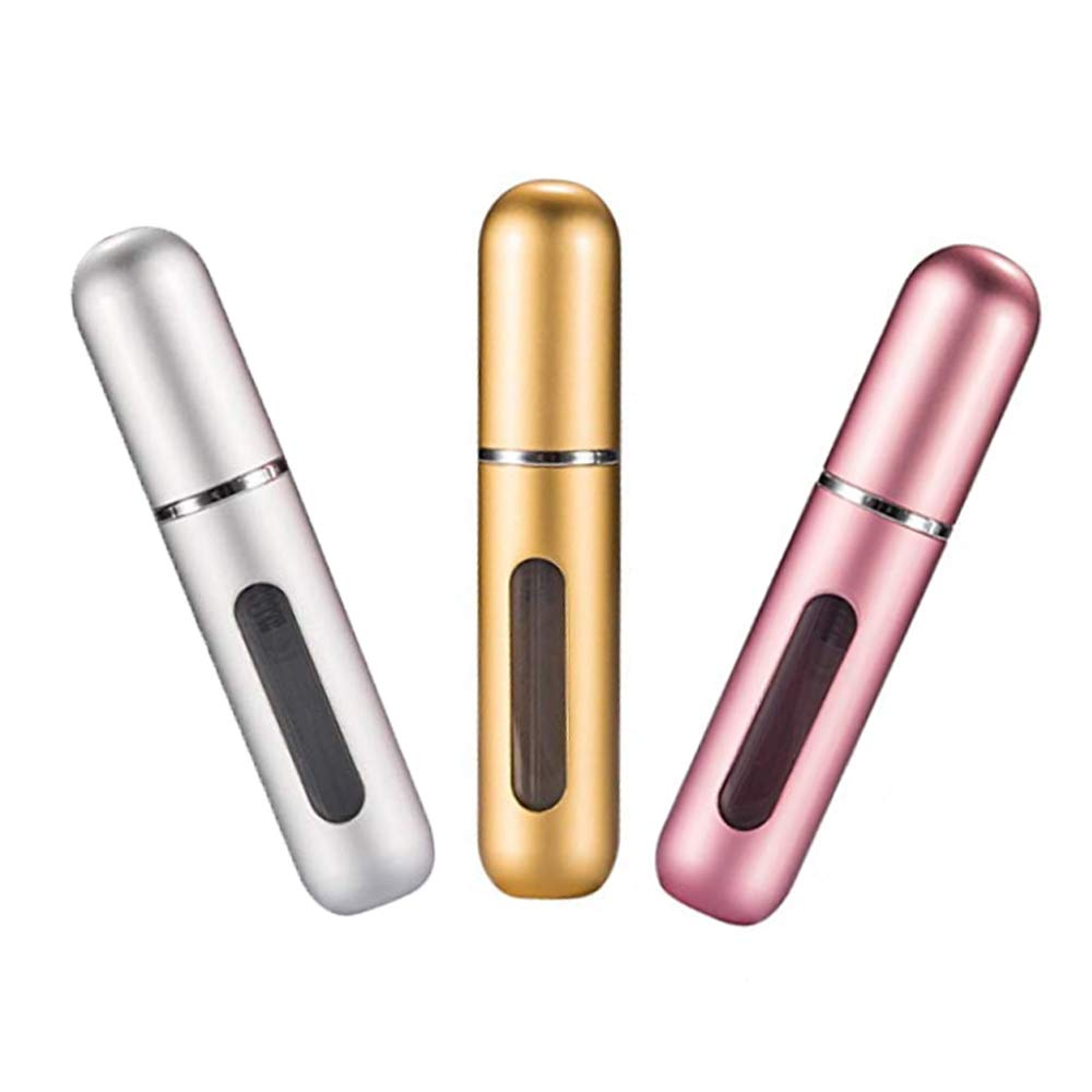 Portable Mini Refillable Perfume Empty Spray Bottle Atomizer Pump Case for Traveling and Outgoing 3 Pcs Pack of 5ml--Free Shipping