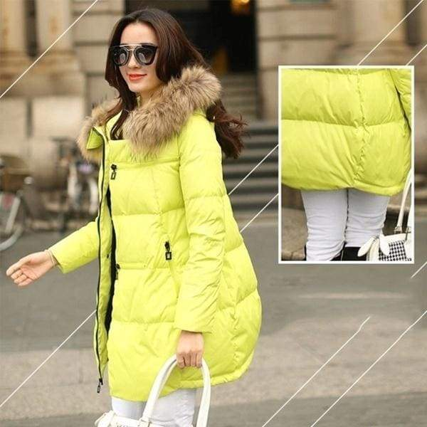 Winter New Style Long Section Large Size Ladies Coat A Word Down Cotton Padded Women's Thick Cotton Jacket To Keep Warm