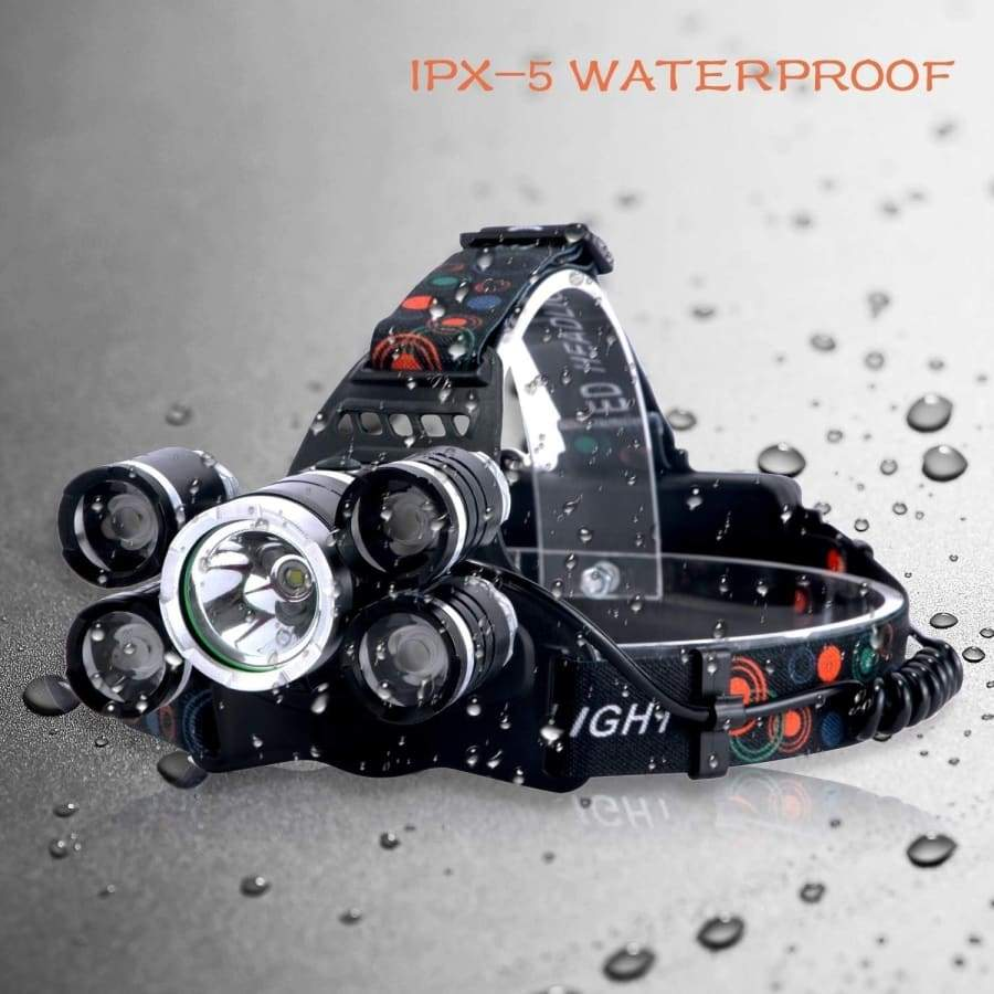 5LED/3LED 15000000LM Cree T6 Waterproof Headlamp Powerful Headlamp LED Zoomable Headlight for Outdoor Cycling Fishing Headlight