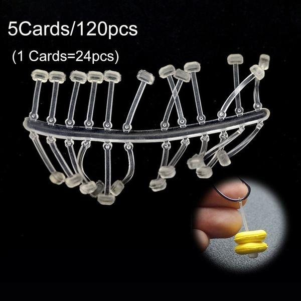 5Cards/120PCS Hot TPR Outdoor Sports Ronnie Rig Carp Fishing Stoper Pop UP Boilies Stop Hook Stops Beads Fishing Hair Chod