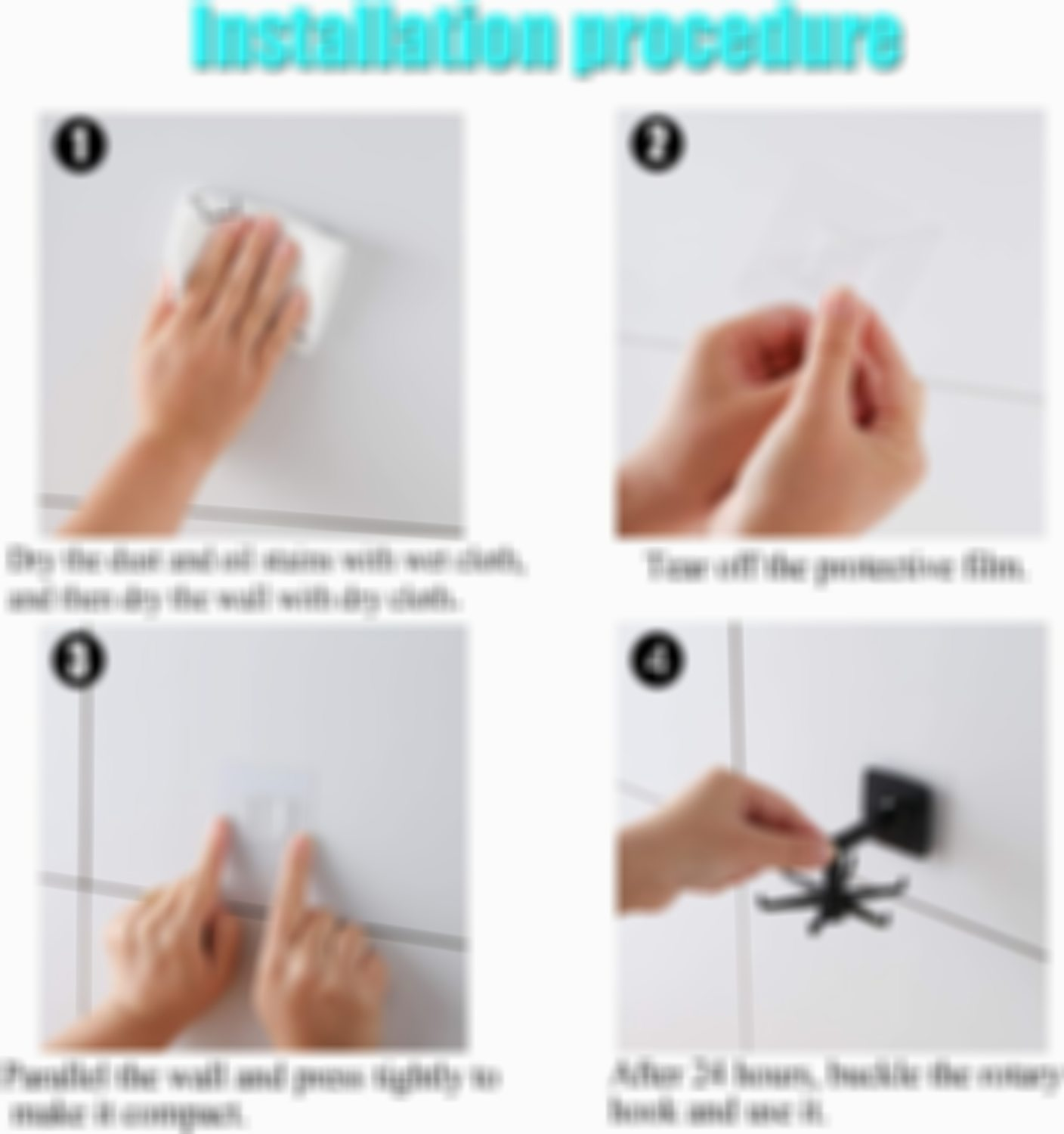 360°Rotating 180° Vertical Flip Self-Adhesive Utility Hook for Kitchen Bathroom Office(4 PCS)