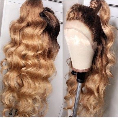2020 Fashion Blonde Wigs For White Women Blond Hair Colour Full Lace Human Hair Wigs For Caucasian Platinum Blonde Finger Wave Wig Blond Afro Black And Blonde Highlights Lace Frontal Wigs