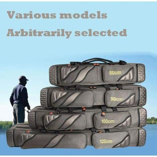 80cm/90cm/100cm / 120cm Thickened Multi-purpose Fishing Gear Backpack Collapsible Fishing Rod Bracket Fish Carp Fish Tool Storage Bag Protective Cover Fishing Gear