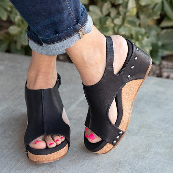 Zoeyootd Women Fashion Comfy Wedges