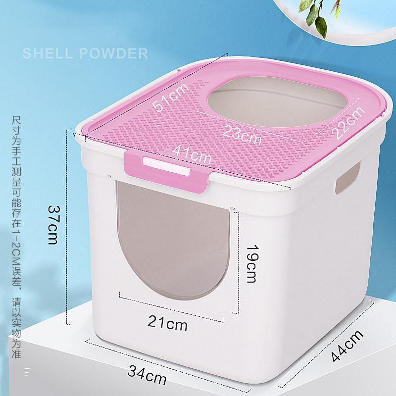 Fully Enclosed Cat Litter Box Large Anti-spatter Drawer Top Into Cat Toilet Deodorization Extra Large Oversized Cat Supplie Pets