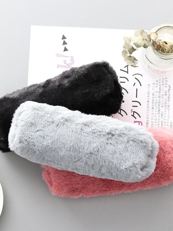 Faux Fur Pencil Case 1pc