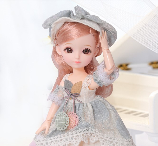 30 Cm Joint Body Doll Change Makeup Clothes Dress Up Simulation Joint Doll Doll Girl Toy