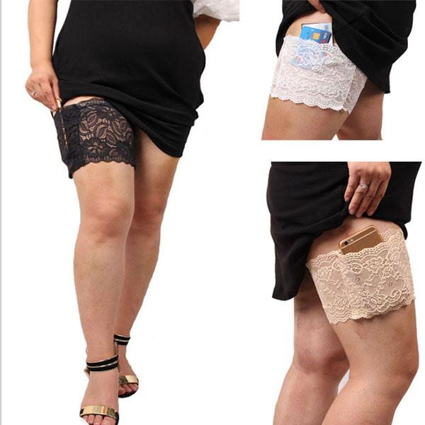 (BUY 3 FREE SHOPPING)French Lace Cell Phone Garter
