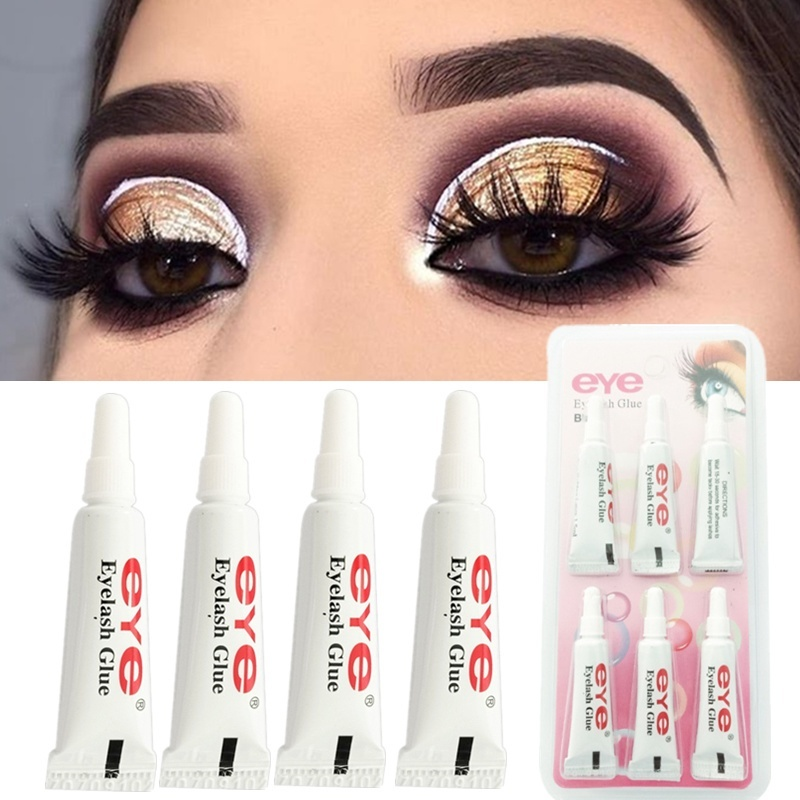 Fake Eyelash Glue Adhesive Strong Clear/Black Waterproof False Lash Adhesive Eyelash Extend Makeup Tool