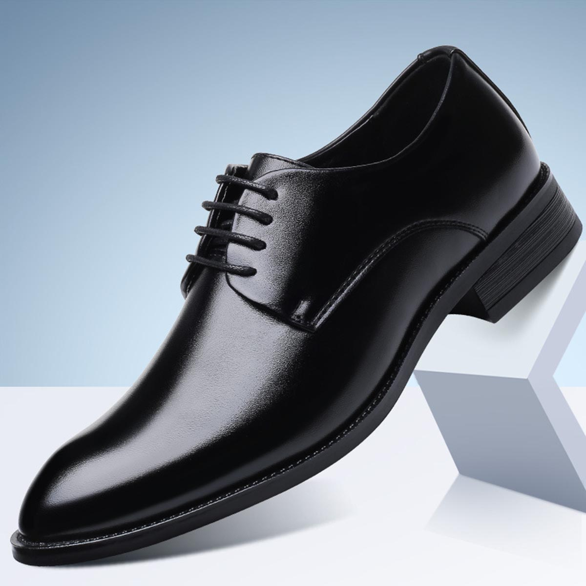 PU Leather with Business Shoes