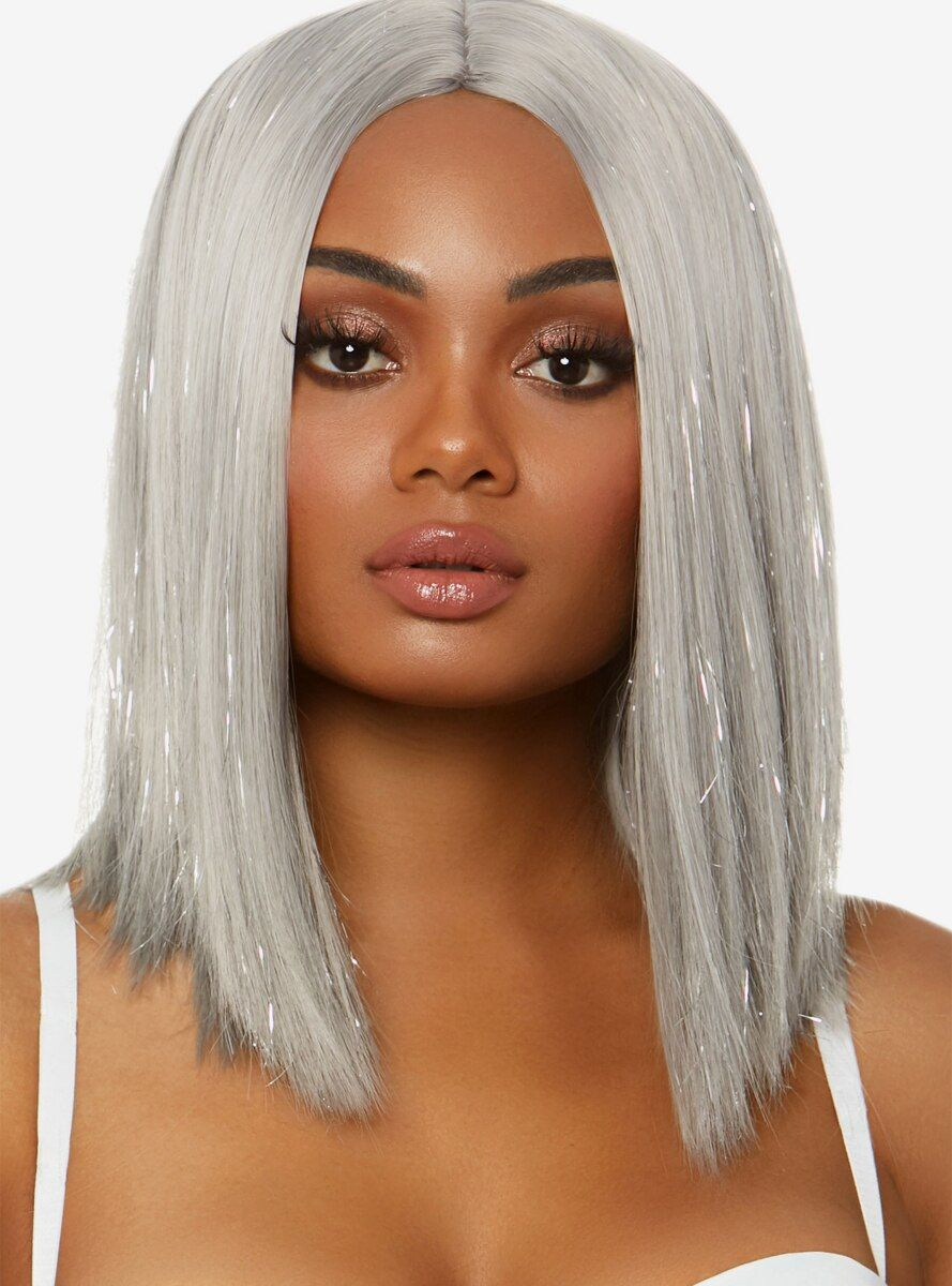2020 New Straight Wigs Black Long Hair Human Hair Pixie Wigs For African American Black Full Lace Wig
