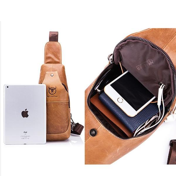 Genuine Leather Casual Sport Sling Bag