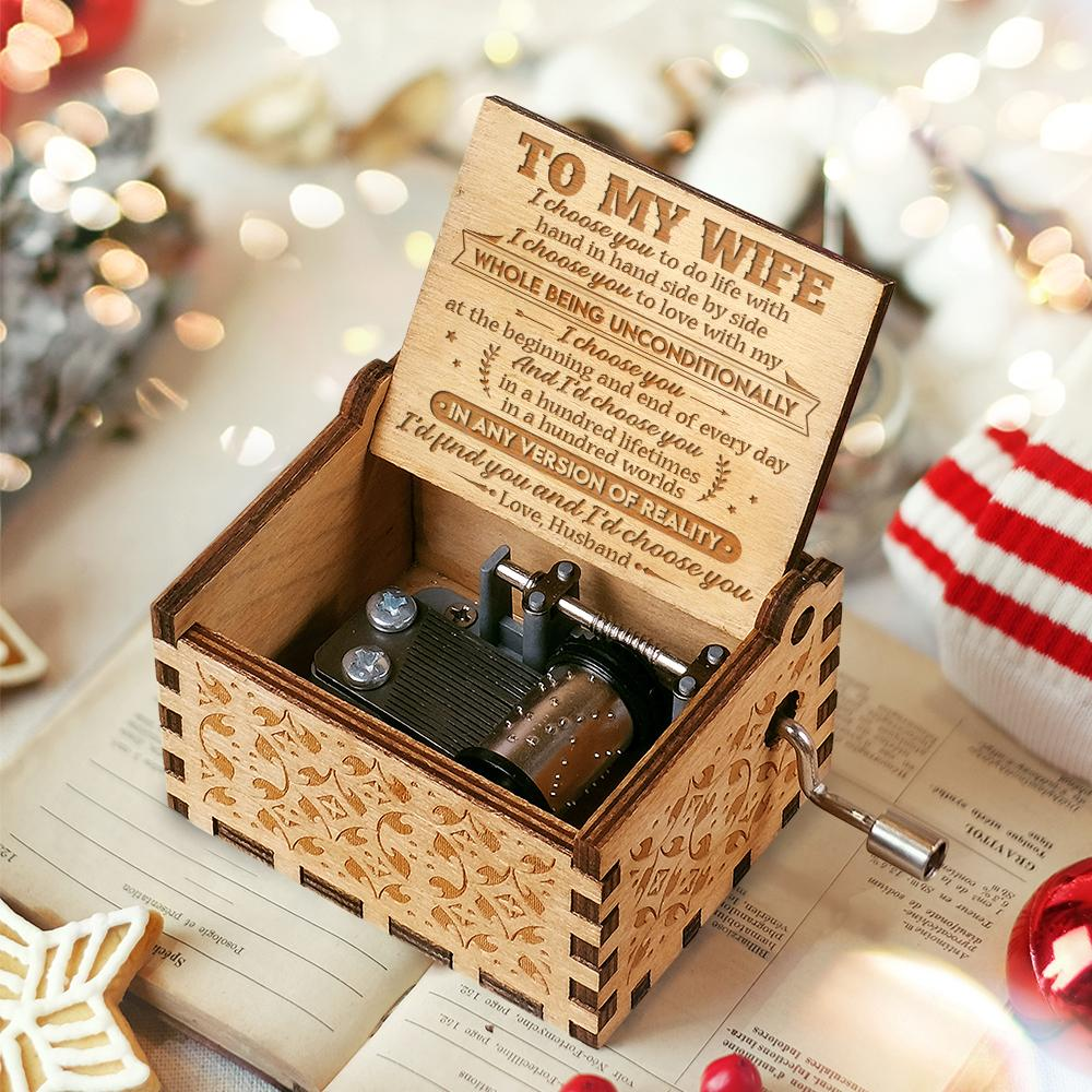 Husband To Wife - I'd choose you - Engraved Music Box