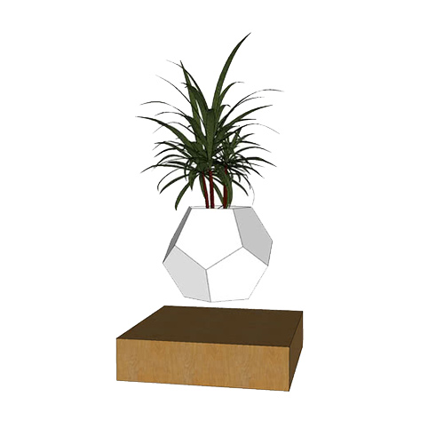 Floating Magnetic Plant Pot Air Bonsai Pot Rotation Flower Pot Planters