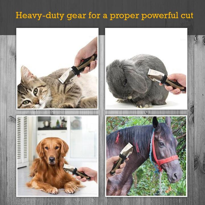 Dog Clippers Low Noise Pet Clippers Rechargeable Dog Trimmer Cordless