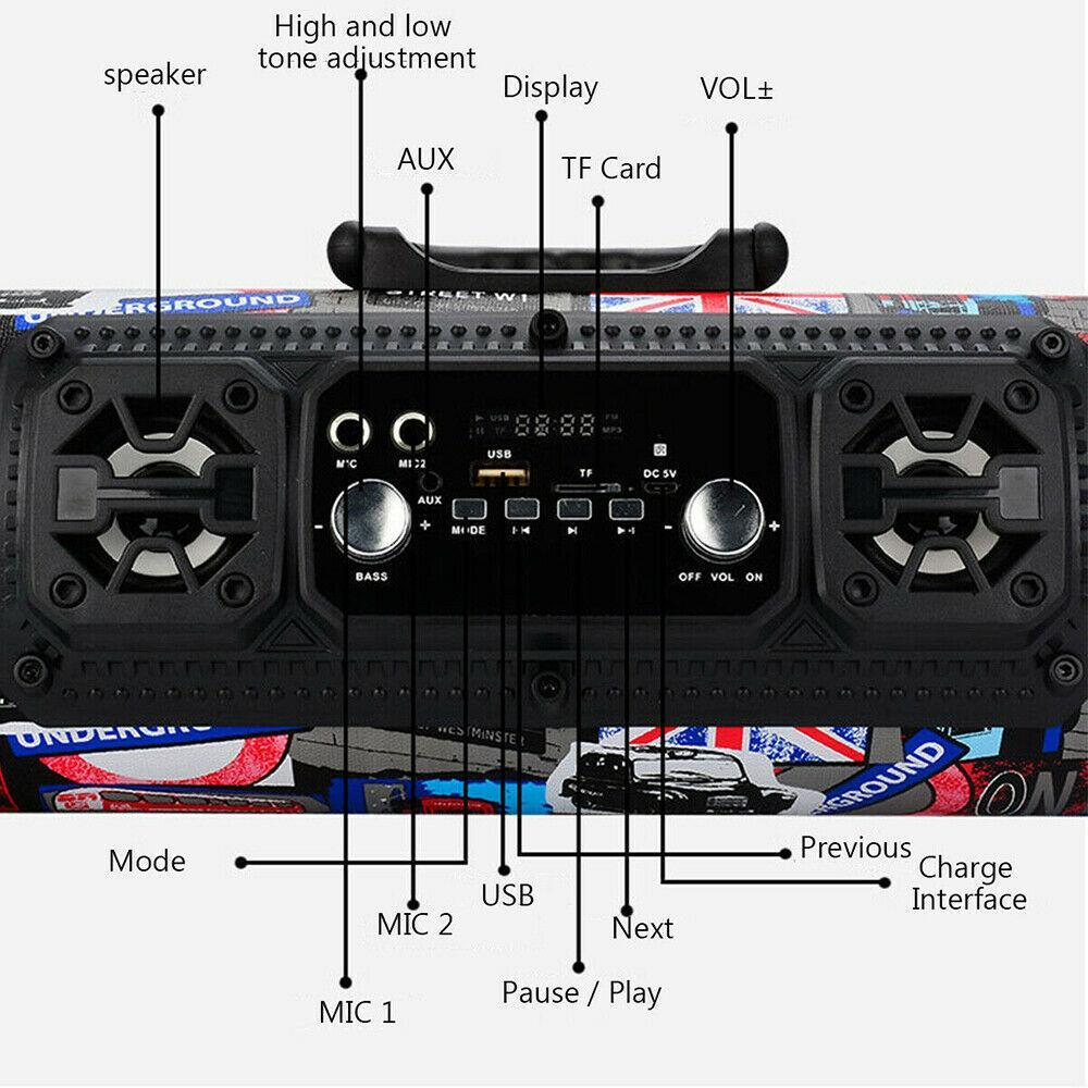 Portable High-Power Bluetooth Speaker-Buy 2 Free Shipping